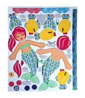 "Beautiful Briny Sea Doll Glitter 35.5"" Panel"