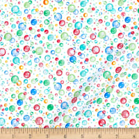 Beautiful Briny Sea Bubbles Glitter White/Multi