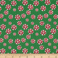 Greetings Tiny Peppermints Dark Green