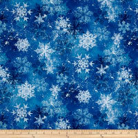 Snowy Friends Snowflake Toss Dark Blue