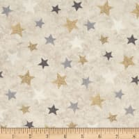 Holiday Meadow Stars Allover Tan