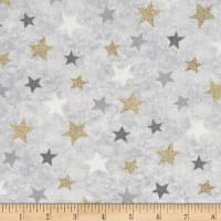 Holiday Meadow Stars Allover Gray