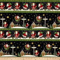 Santa's Big Night Repeating Stripe Multi