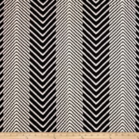 Poly Spandex ITY Knit Chevron Black/White