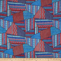 Chiffon Tribal Geo Red/Blue