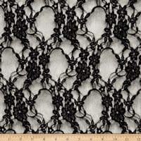 Stretch Giselle Lace Metallic Silver