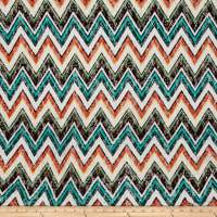 Novelty Crochet Lace Coral/Teal