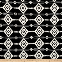 Rayon Spandex Jersey Knit Tribal Black/White