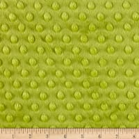 Michael Miller Minky Solid Dot Apple Green