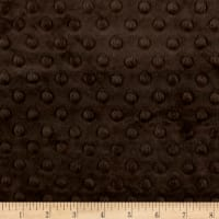 Michael Miller Minky Solid Dot Charcoal