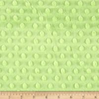 Michael Miller Minky Solid Dot Lime
