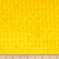 Michael Miller Minky Solid Dot Bright Yellow