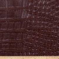 Fabricut Aluminum Faux Leather Garnet
