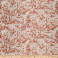 French General Arbe Toile Linen Blend Sienna
