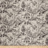 French General Arbe Toile Linen Blend Coal