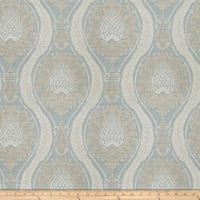 Fabricut Ballys Damask Chenille Seaspray