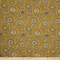 Fabricut Outlet Banyon Tree Jacquard Lemon Curry