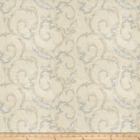 Fabricut Britton Leaves Silk Porcelain