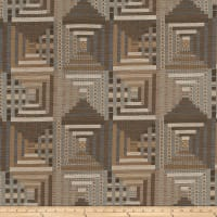 Mount Vernon Log Cabin Quilt Hemp