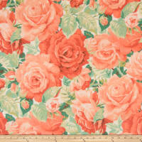 Fabricut Outlet Cotton Duck Mount Vernon Martha's Rose Garden