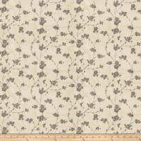 Fabricut Reeves Floral Silk Pewter