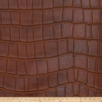 Fabricut Tin Faux Leather Cognac