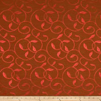 Fabricut Vina Faux Silk Redwood