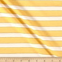 Jersey Knit Stripe Yellow/White/Gold