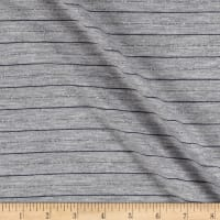 Jersey Knit Stripe Heather Gray/Blue/Silver
