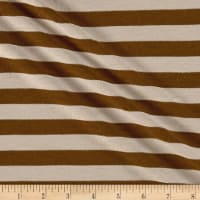 Jersey Knit Stripe Taupe/Brown/Gold