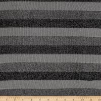 Sweater Knit Grey Lurex Stripes