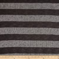Sweater Knit Iron Stripes/Two Tone Gray