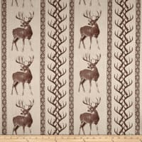 Regal Tiverton Jacquard Deer/Antler Stripe Chocolate