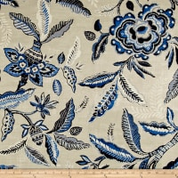 Waverly Key of Life Twill Indigo