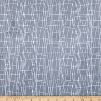 Michael Miller Minky Sassy Cats Atomic Web Grey