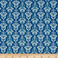 Riley Blake Vienna Damask Navy