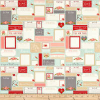 Riley Blake Rustic Elegance Postcards Mint