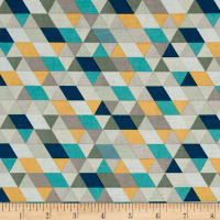 Riley Blake Ava Rose Geometric Blue