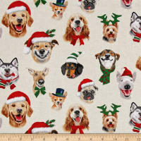 Christmas Selfies Dogs Cream