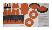 "Riley Blake EEK BOO Shriek 24"" Panel Orange"