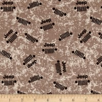Riley Blake Jeep Logo Brown