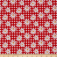 Penny Rose Gingham Girls Daisy Red