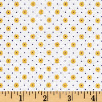 Penny Rose Gingham Girls Flower White