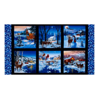 "Country Christmas 25"" Panel Black"