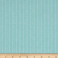 Happy Meadows Herringbone Stripe Aqua