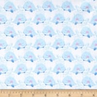 Itty Bitty's Flannel Whales White/Blue