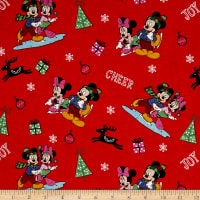 Disney Christmas Mickey & Friends Home for the Holidays Red