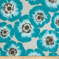 P Kaufmann Outdoor Poppy Patch Turquoise