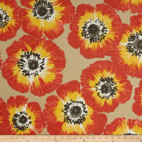 P Kaufmann Outdoor Poppy Patch Sunshine