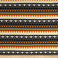 ITY Brushed Stretch Jersey Knit Aztec Yellow/Orange/Black